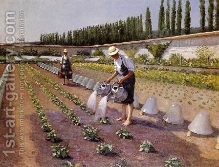 The Gardeners by Gustave Caillebotte - Reproduction Oil Painting
