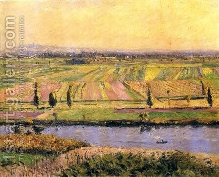 The Gennevilliers Plain  Seen From The Slopes Of Argenteuil by Gustave Caillebotte - Reproduction Oil Painting