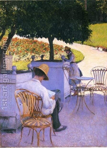 The Orange Trees by Gustave Caillebotte - Reproduction Oil Painting