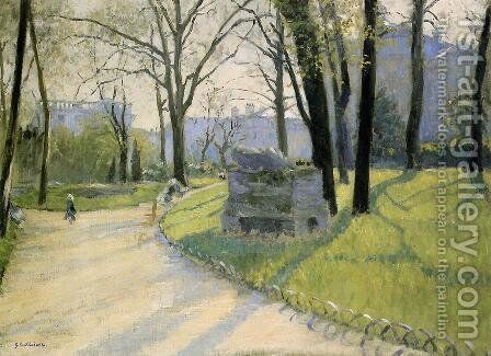 The Parc Monceau by Gustave Caillebotte - Reproduction Oil Painting