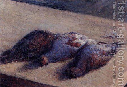 Three Partridges On A Table by Gustave Caillebotte - Reproduction Oil Painting