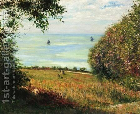View Of The Sea From Villerville Aka Sea Scape by Gustave Caillebotte - Reproduction Oil Painting