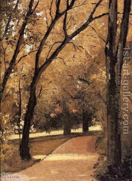 Yerres  Path Through The Old Growth Woods In The Park by Gustave Caillebotte - Reproduction Oil Painting