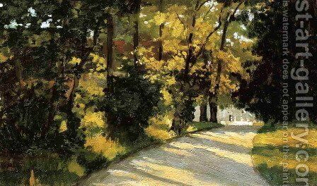 Yerres  Path Through The Woods In The Park by Gustave Caillebotte - Reproduction Oil Painting