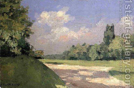 Yerres  The Lawn In The Park  Seen From A Path by Gustave Caillebotte - Reproduction Oil Painting