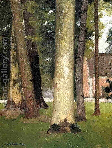 Yerres  Through The Grove  The Ornamental Farm by Gustave Caillebotte - Reproduction Oil Painting