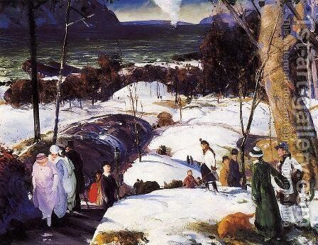 Easter Snow by George Wesley Bellows - Reproduction Oil Painting