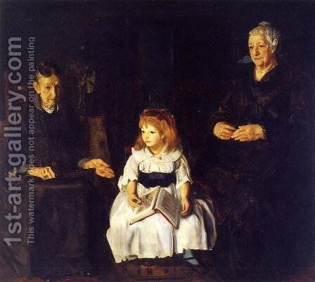 Elinor  Jean And Anna by George Wesley Bellows - Reproduction Oil Painting