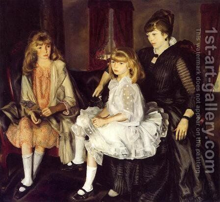 Emma And Her Children by George Wesley Bellows - Reproduction Oil Painting