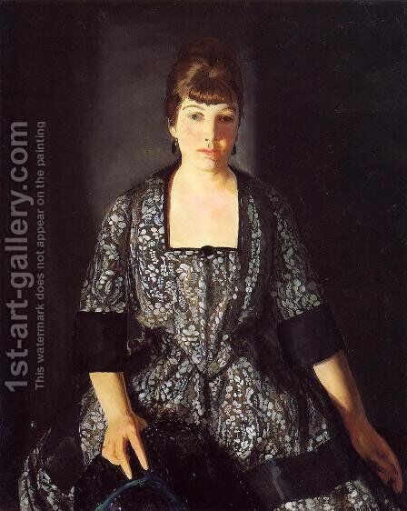 Emma In The Black Print by George Wesley Bellows - Reproduction Oil Painting