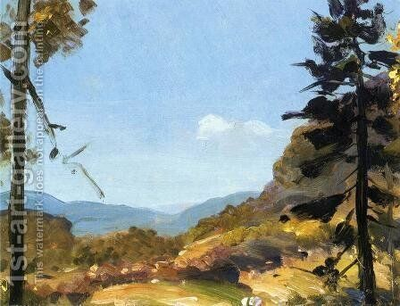Evening Hills  Catskill Mountains by George Wesley Bellows - Reproduction Oil Painting