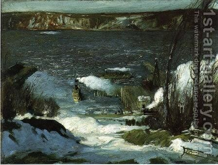 North River by George Wesley Bellows - Reproduction Oil Painting