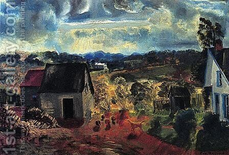 Sunset  Shady Valley Aka Boggs Road by George Wesley Bellows - Reproduction Oil Painting