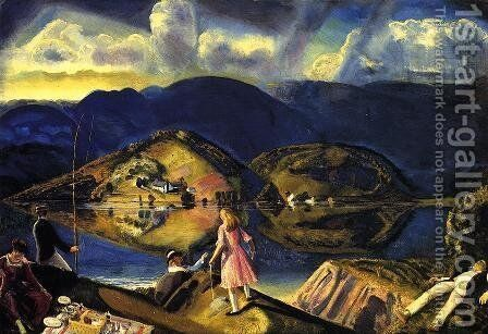 The Picnic by George Wesley Bellows - Reproduction Oil Painting