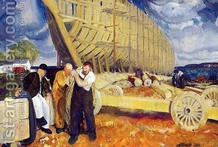 The Rope Aka Builders Of Ships by George Wesley Bellows - Reproduction Oil Painting