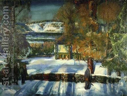 Winter Road by George Wesley Bellows - Reproduction Oil Painting