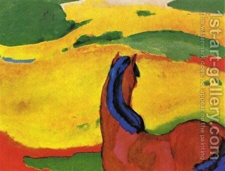 Horse In A Landscape by Franz Marc - Reproduction Oil Painting