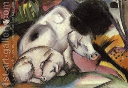 pigs painting by franz marc reproduction 1st art gallery