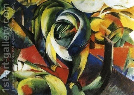 The Mandrill by Franz Marc - Reproduction Oil Painting