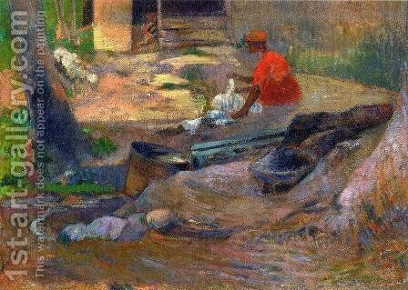 A Little Washerwoman by Paul Gauguin - Reproduction Oil Painting