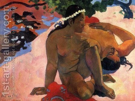 Aha Oe Feii Aka What Are You Jealous by Paul Gauguin - Reproduction Oil Painting