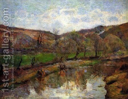 Aven Valley  Upstream Of Pont Aven by Paul Gauguin - Reproduction Oil Painting