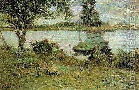 Banks Of The Oise by Paul Gauguin - Reproduction Oil Painting