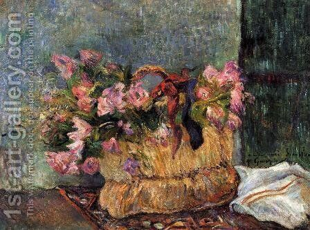Basket Of Flowers by Paul Gauguin - Reproduction Oil Painting