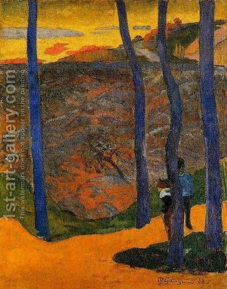 Blue Trees by Paul Gauguin - Reproduction Oil Painting