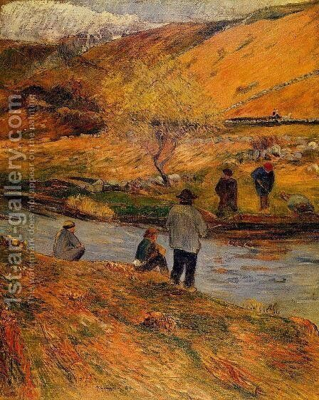 Breton Fishermen by Paul Gauguin - Reproduction Oil Painting
