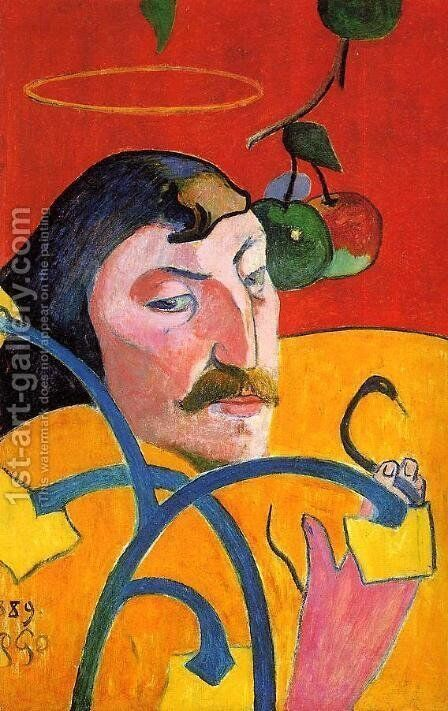 Caricature  Self Portrait by Paul Gauguin - Reproduction Oil Painting
