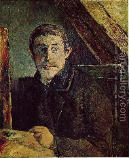 Gauguin At His Easel by Paul Gauguin - Reproduction Oil Painting