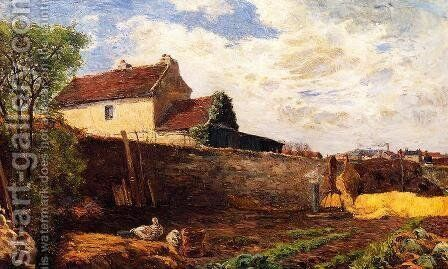 Geese On The Farm by Paul Gauguin - Reproduction Oil Painting