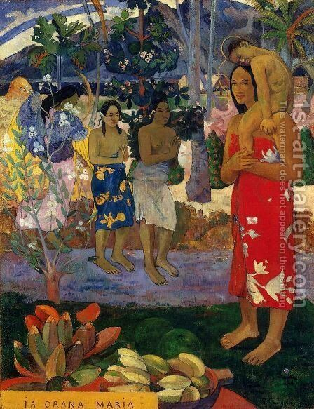 Ia Orana Maria Aka Hail Mary by Paul Gauguin - Reproduction Oil Painting