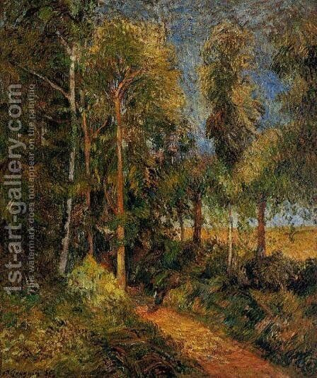 Lane Through The Beaches by Paul Gauguin - Reproduction Oil Painting