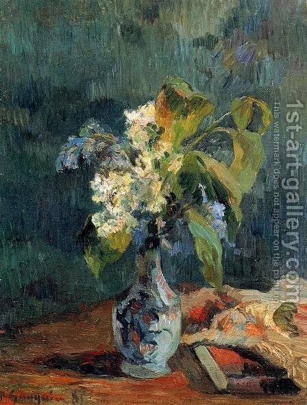 Lilac Bouquet by Paul Gauguin - Reproduction Oil Painting