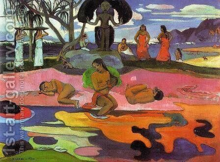 Mahana No Atua Aka Day Of The Gods by Paul Gauguin - Reproduction Oil Painting