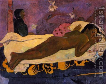 Manao Tupapau Aka Spirit Of The Dead Watching by Paul Gauguin - Reproduction Oil Painting