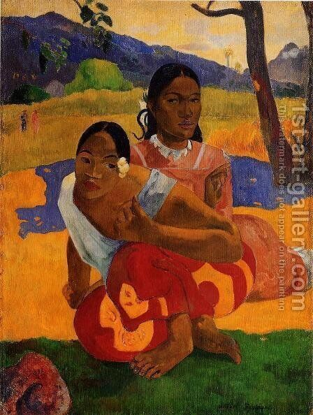 Nafeaffaa Ipolpo Aka When Will You Marry by Paul Gauguin - Reproduction Oil Painting