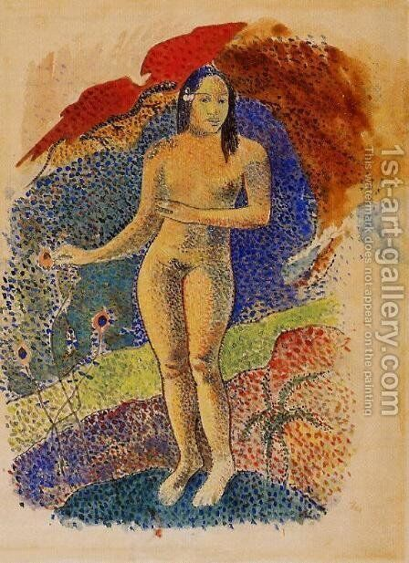 Nave Nave Feuna  LEve Tahitienne Aka Beautiful Land  Tahitian Eve by Paul Gauguin - Reproduction Oil Painting