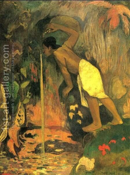 Pape Moe Aka Mysterious Water by Paul Gauguin - Reproduction Oil Painting