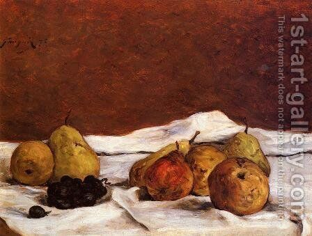 Pears And Grapes by Paul Gauguin - Reproduction Oil Painting