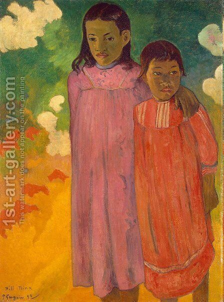 Piti Teina Aka Two Sisters by Paul Gauguin - Reproduction Oil Painting
