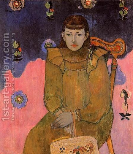 Portrait Of A Young Woman  Vaite (Jeanne) Goupil by Paul Gauguin - Reproduction Oil Painting