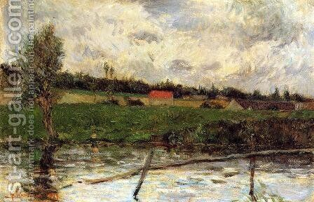 Riverside Aka Breton Landscape by Paul Gauguin - Reproduction Oil Painting