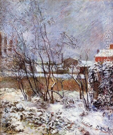 Snow  Rue Carcel by Paul Gauguin - Reproduction Oil Painting