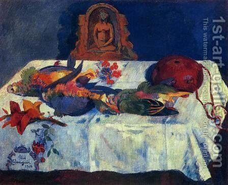 Still Life With Parrots by Paul Gauguin - Reproduction Oil Painting