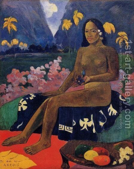 Te Aa No Areois Aka The Seed Of Areoi by Paul Gauguin - Reproduction Oil Painting