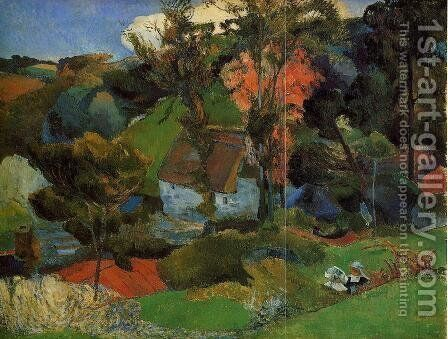 The Aven Running Through Pont Aven by Paul Gauguin - Reproduction Oil Painting