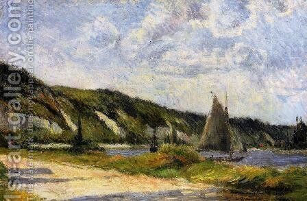 The Cliffs Of Le Bouille by Paul Gauguin - Reproduction Oil Painting